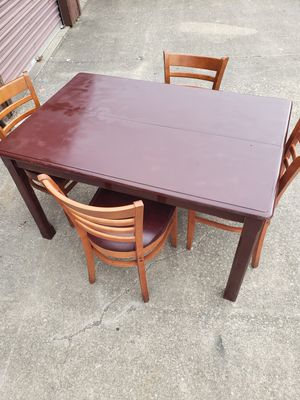 Nice solid wood dining table and chairs for Sale in Euclid, OH