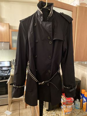 Burberry Trench Coat with Interchangeable Spike Leather Belt for Sale in Chicago, IL