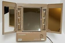 Vintage Vidal Sassoon 3-sided Light-up Makeup Vanity Table Top Mirror for Sale in Haltom City, TX