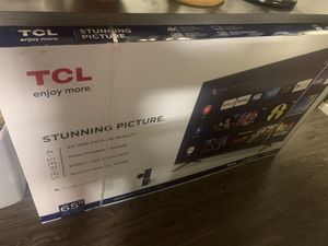 """TCL 4K 65"""" new never used for Sale in Oceanside, CA"""
