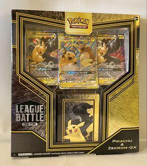 Pokemon TCG League Battle Deck - Pikachu & Zekrom GX - Sealed for Sale in Tempe, AZ