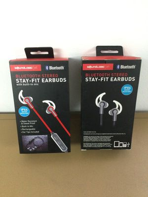 Bluetooth Stereo Earbuds Earphones Music Audífonos Inalámbricos IPX4 SOUNDLOGIC for Sale in Miami, FL