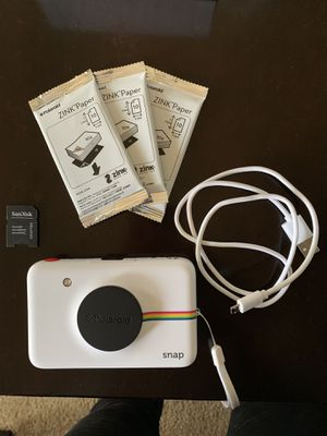 Polaroid Snap Camera (white) for Sale in West Lafayette, IN