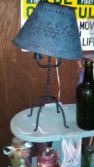 Punched tin lamp for Sale in Frankfort, IN