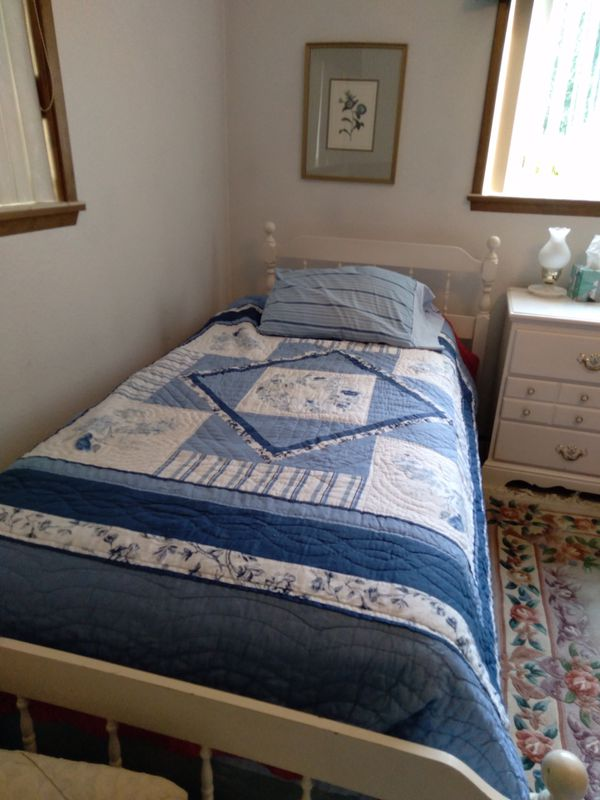 Full Bedroom Set with two twin beds, mattresses...box springs....sheets...DELIVERY AVAILABLE POSSIBLY