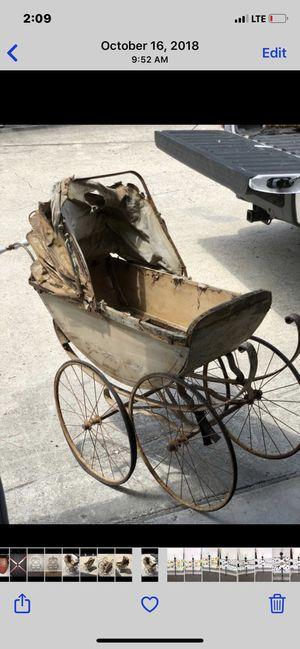Antique baby stroller for Sale in Crosby, TX
