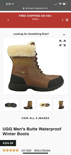 Ugg Men's butte waterproof winter boots for Sale in Pittsburgh, PA