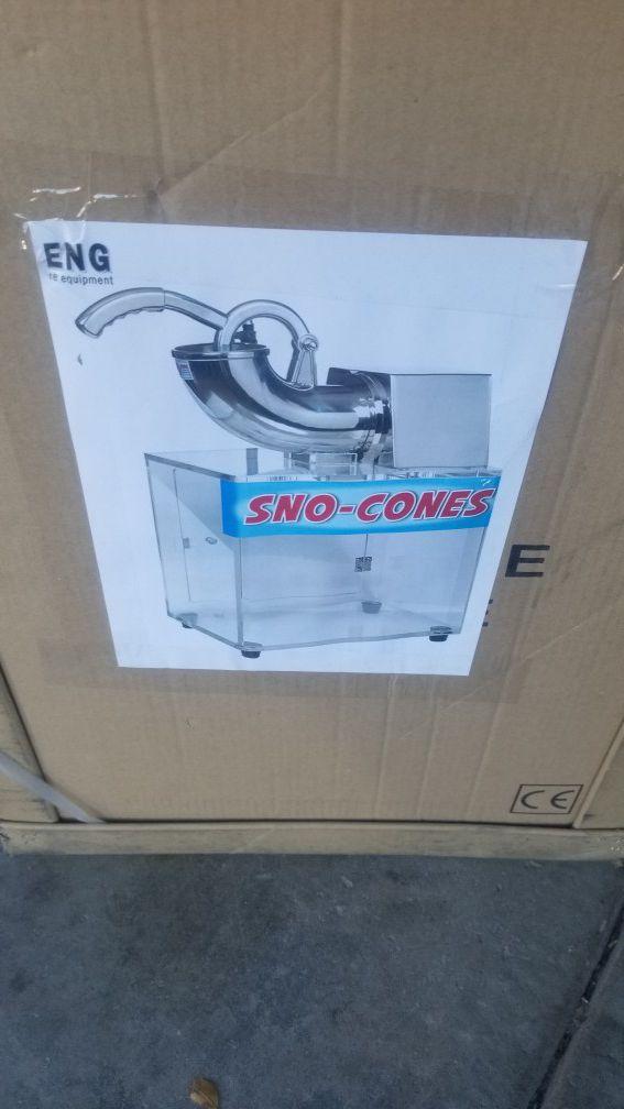 New snow cones machine $200 cash