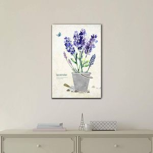 ((FREE SHIPPING)) Purple Lavender Flowers in a Pot - Gallery Wrap Modern Home Decor | Ready to Hang Painting like print for Sale in Atlanta, GA