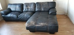 Bonded Leather Sectional Sofa - 2 Seats with Chaise (Free) for Sale in Portland, OR