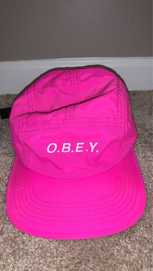 Pink reflective obey hat for Sale in Bloomingdale, IL