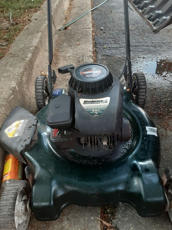 Hand propelled Bolton's lawn mower