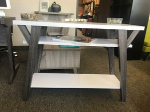 June Console Table, Distressed Grey and White, SKU 161835 for Sale in Santa Ana, CA