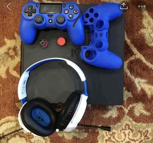 PS4 Slim with Spider-Man/controller mods including headphones for Sale in Germantown, MD
