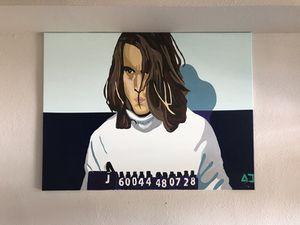 Boston George (Blow) pop art original by Houston native AC for Sale in Houston, TX