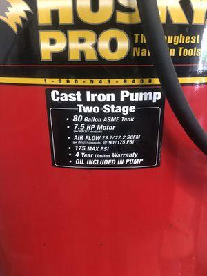 Husky pro air compressor for Sale in Manteca, CA