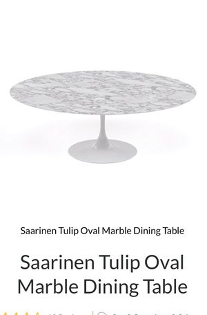 Saarinen tulip oval table for Sale in Miami, FL