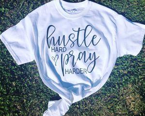 Hustle hard pray harder t shirt for Sale in New Iberia, LA