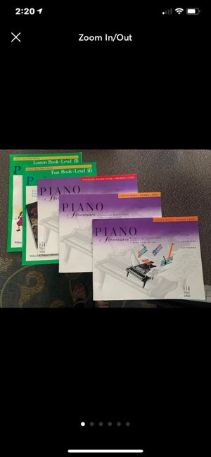 Piano lessons books for Sale in Raleigh, NC
