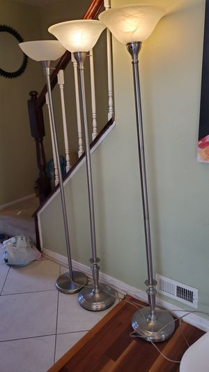 Floor lamps set of 3 for Sale in South Brunswick Township, NJ