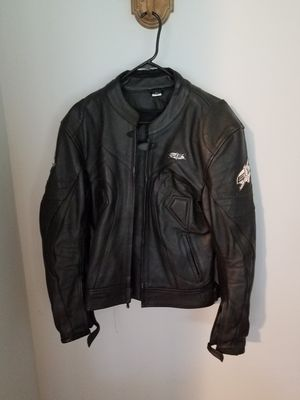Medium Leather EXL Motorcycle Jacket for Sale in Romeoville, IL