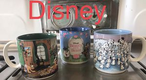 Never used Disney collectible mugs set of 3 for Sale in El Paso, TX