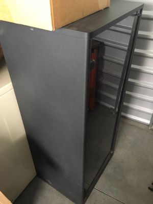 Display stand with shelves and glass door for Sale in Colorado Springs, CO