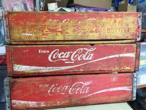 Vintage 3 wood Coca Cola cases for Sale in La Vergne, TN