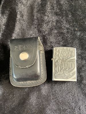 Us army zippo with case for Sale in Turlock, CA