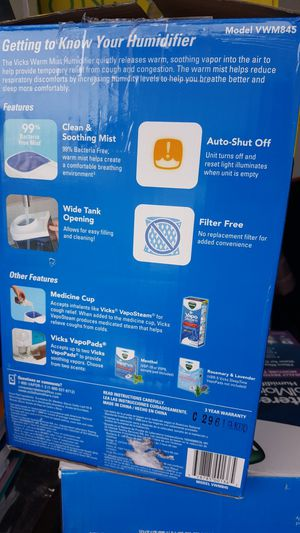 WarmMist humidifier for Sale in Corona, CA