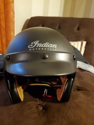 Black Indian Motorcycle Helmet for Sale in MERRIONETT PK, IL