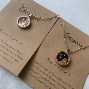 Gemini Zodiac Coin Necklace Both Rose Gold for Sale in Turlock, CA