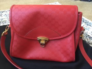 Red Authentic Gucci Monogram Crossbody Bag for Sale in Shoreline, WA