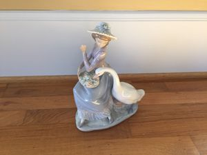 Retired Lladro Girl With Goose for Sale in Tacoma, WA