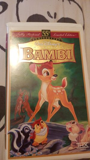 Bambi 55th anniversary Disney Masterpiece VHS for Sale in Bellflower, CA