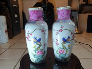 pair jing de zhen hand paint vases for Sale in ROWLAND HGHTS, CA