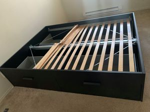 IKEA Brimnes Queen bed frame Must pick up for Sale in Issaquah, WA