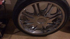24 inch rims w XL tires for Sale in Jacksonville, FL