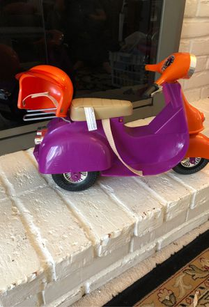 Doll motorcycle with helmet for Sale in Bloomfield Township, MI