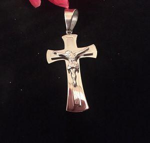Solid Silver Cross Pendant. Jesus. for Sale in Denver, CO