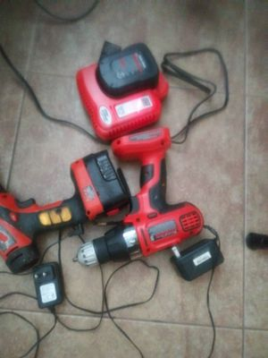 Black&Decker Drills/W batteries and chargers for Sale in Pompano Beach, FL