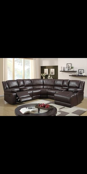 New Large Espresso Recliner Sectional for Sale in Austin, TX