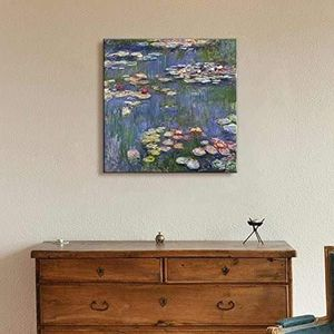 ((FREE SHIPPING)) water lilies by claude monet - canvas art wall decor Painting like print for Sale in Mill Valley, CA