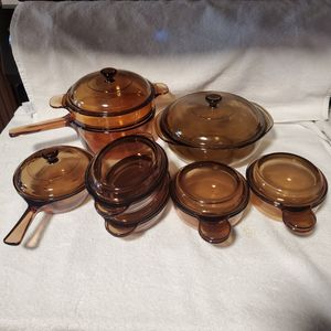 Vision & Pyrex 15pc Amber Casseroles Set for Sale in Springfield, OR