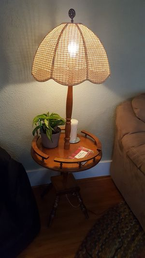 1970's super cool floor lamp/table for Sale in Peoria, IL