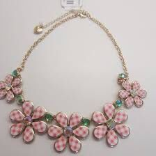 New Betsey Johnson Summer Picnic Pink Floral Necklace for Sale in Severn,  MD
