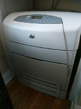 HP 4100 laser jet network printer with new $150 toner cartridge