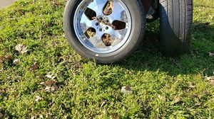 20 inch truck tires and rims. Dont know anything about bolt patterns. Just know there all good shape. Want last long. 20' INCH ON TIRES for Sale in Horn Lake, MS