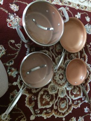 Red Copper NonStick pots and pans for Sale in Westlake, OH