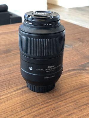 Nikon AF-S DX Micro Nikki 85mm f/3.5g ED VR for Sale in Scottsdale, AZ